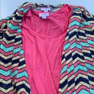 LulaRoe Small Lindsey and xl tank top